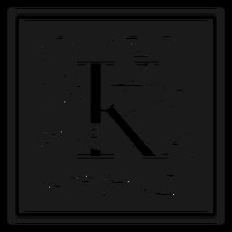 Carta de arte noveau k