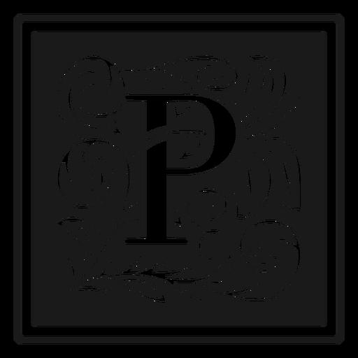 Art noveau p letter
