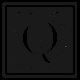 Art noveau q letter