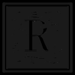 Art noveau r letter