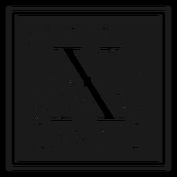 Art noveau x letter
