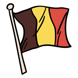 Belgian flag hand drawn