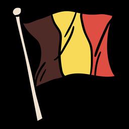 Mão de bandeira belga desenhada