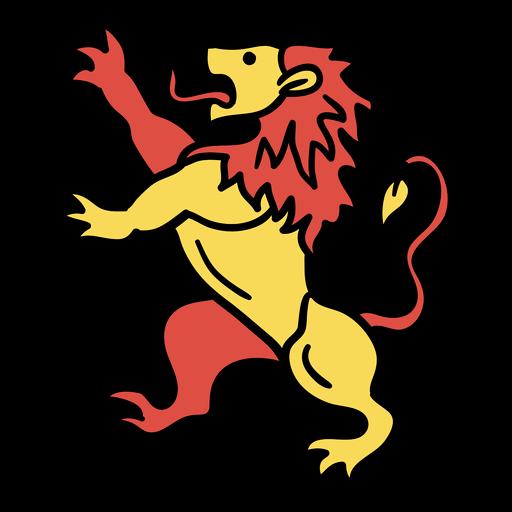 León belga león dibujado a mano
