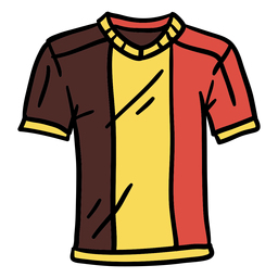 Belgian t shirt hand drawn