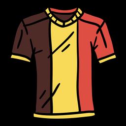 Mão de camiseta belga desenhada