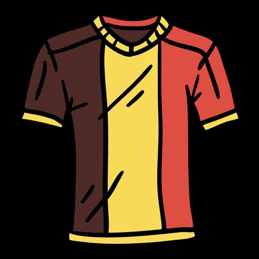 Belgian t shirt hand drawn
