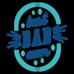 La mejor insignia azul de papá