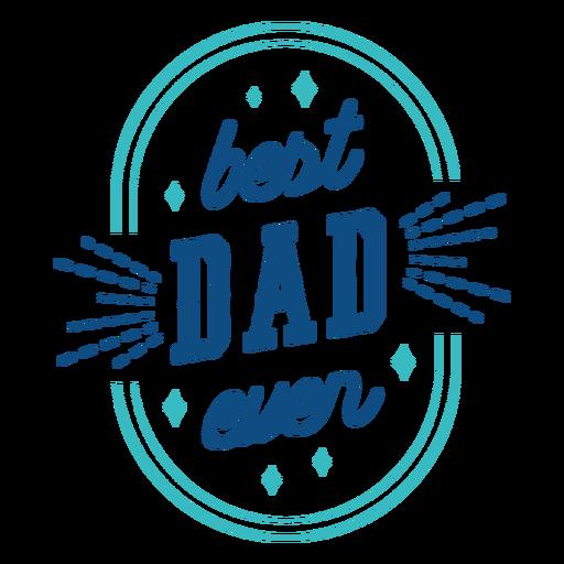 El mejor papá nunca insignia azul