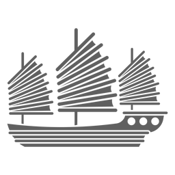 Gran velero rojo negro