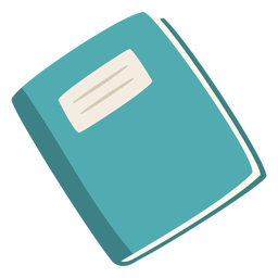Cuaderno azul plano