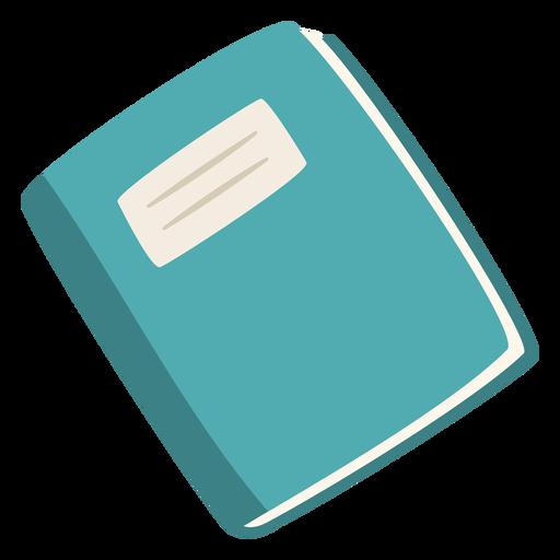 Blue notebook flat