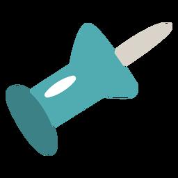 Pasador azul plano