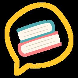 Livros na bolha falante
