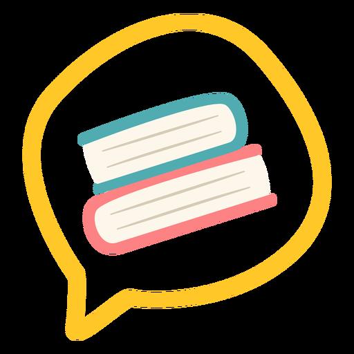 Libros en burbuja parlante