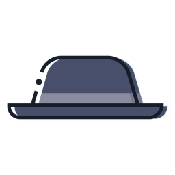 Bowler hat stroke icon