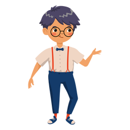 Boy in glasses character
