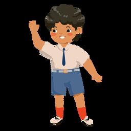 Personagem de ondulação de menino