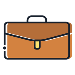 Brow suitcase stroke icon