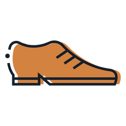 Brown shoe stroke icon