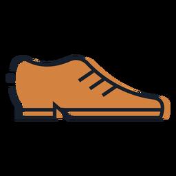 Icono de trazo de zapato marrón