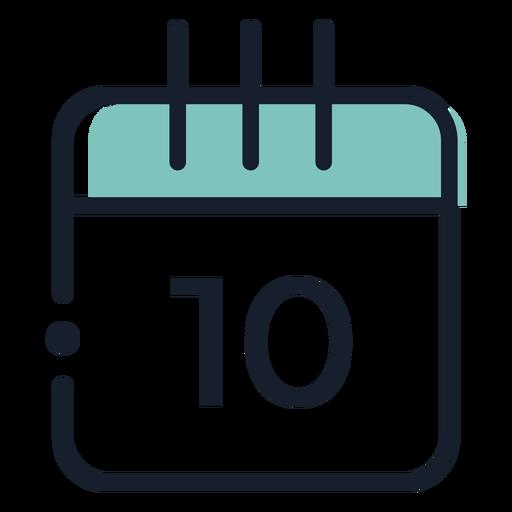 Icono de trazo de calendario
