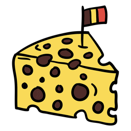 Cheese with belgian flag