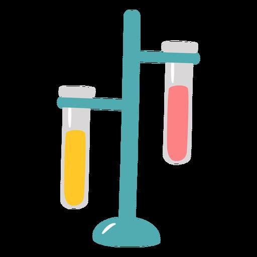 Tubos de ensayo de química planos