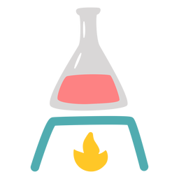 Chemistry flask heating flat