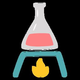 Matraz química calentamiento plano