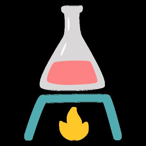 Chemistry flask heating flat