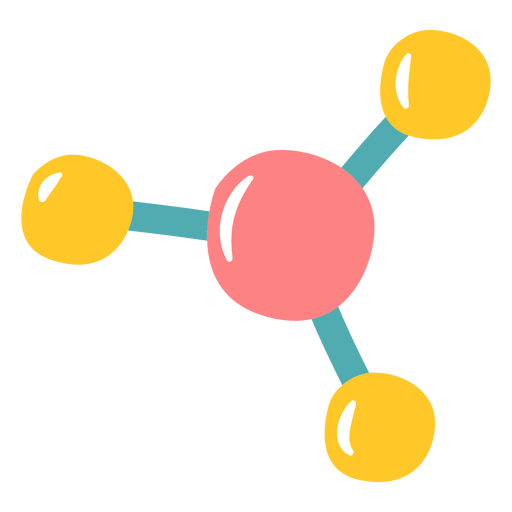Chemistry molecules flat