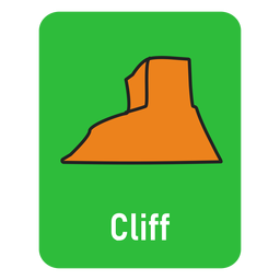 Cliff green flashcard