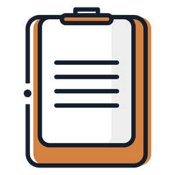 Clipboard paper stroke icon