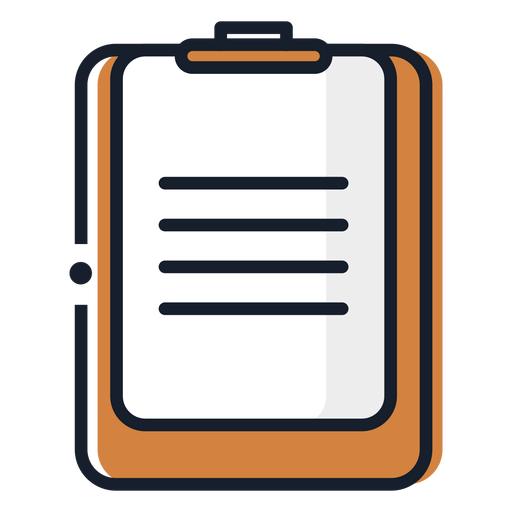 Icono de trazo de papel de portapapeles