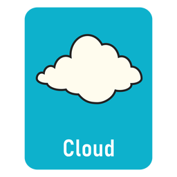 Cloud lighblue flashcard