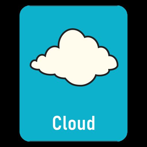 Cloud lighblue flashcard