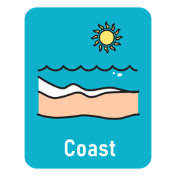 Coast lightblue flashcard