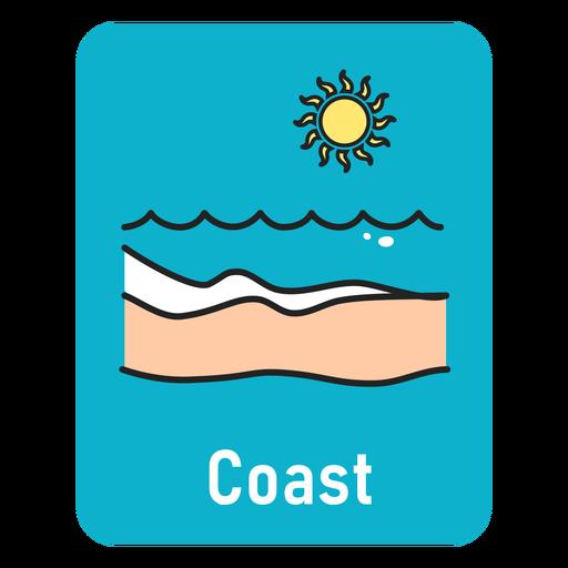 Coast lightblue flashcard