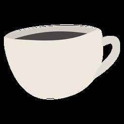 Taza de café plana