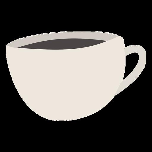 Taza de café plana Transparent PNG