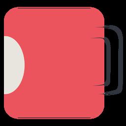 Coffee mug flat