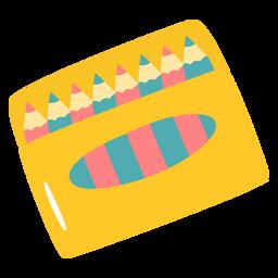 Color pencils flat