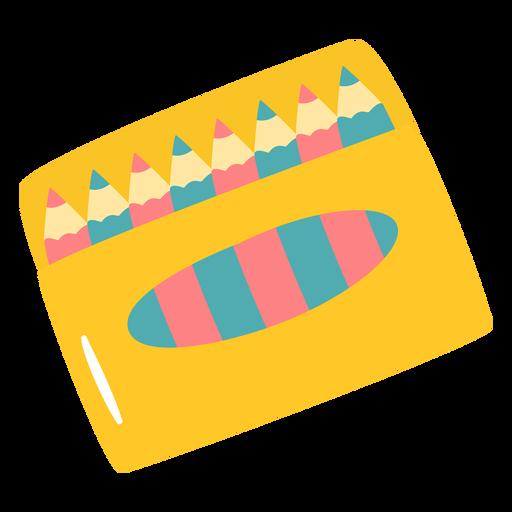 Lápices de colores planos