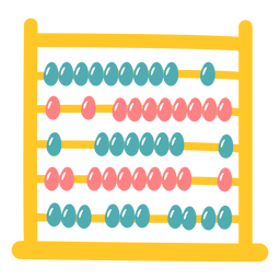 Colored abacus flat