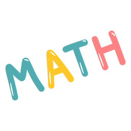 Colored math lettering