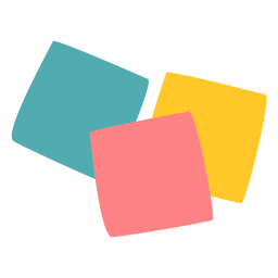 Colored post its flat