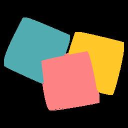 El poste de color es plano