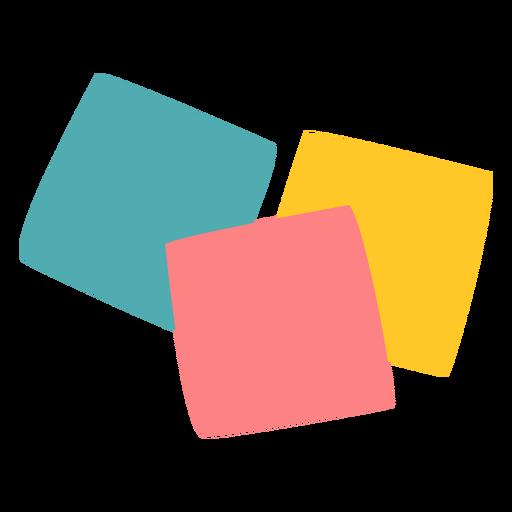 Colored post its flat