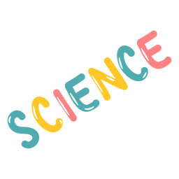 Colored science lettering